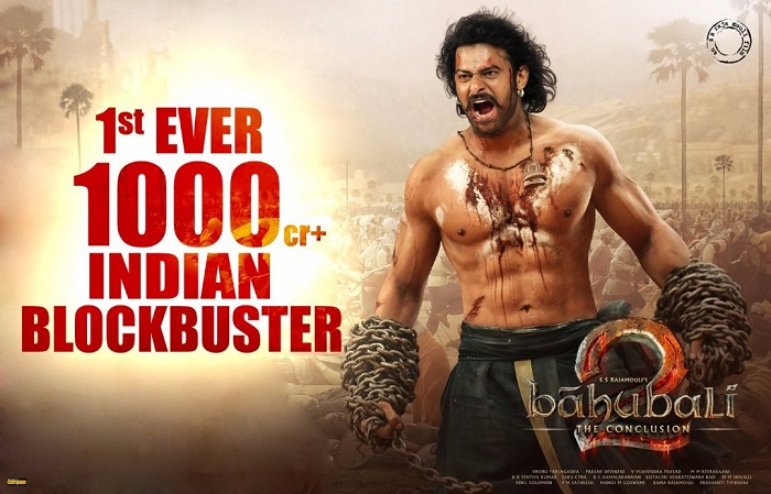 'Baahubali 2' becomes 1st Indian movie to cross Rs 1000 crore.