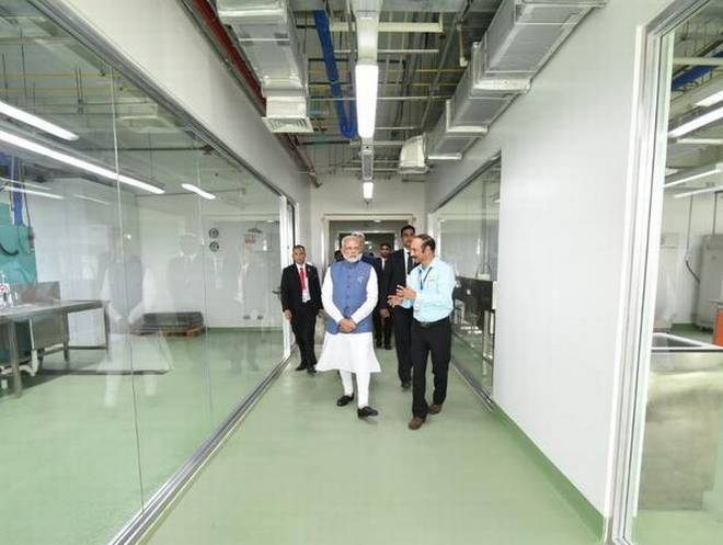 Prime Minister Narendra Modi visits rice research institute, meets Indian scientists