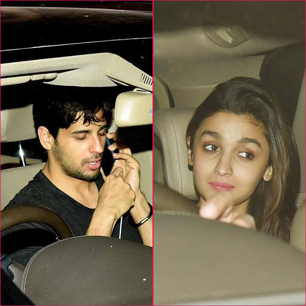 Alia Bhatt couldn�t stop blushing in Sidharth Malhotra�s company.