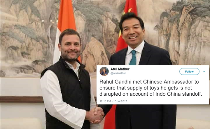 Rahul Gandhi Meet With China Envoy Latest Self-Goal By Congress