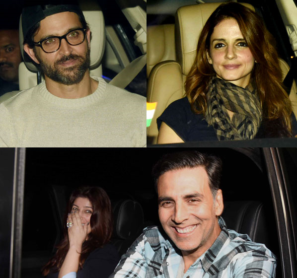 Akshay-Twinkle & Hrithik-Sussanne Had A Triple Date On Sunday