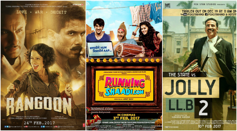 Bollywood movies releasing in February 2017 in India: Rangoon, Jolly LLB 2 and others on the list