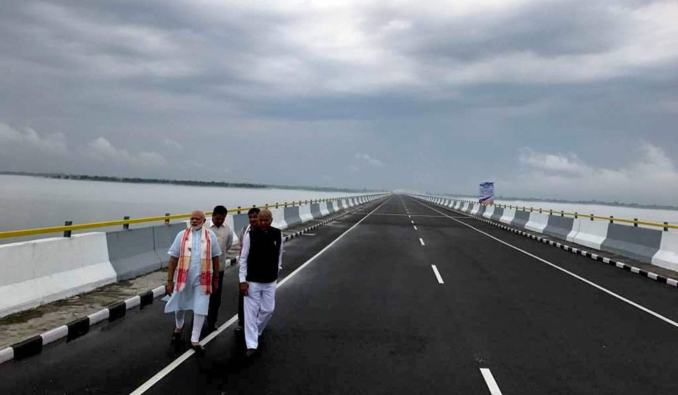 PM Modi names India's longest bridge after Assamese legend Bhupen Hazarika.