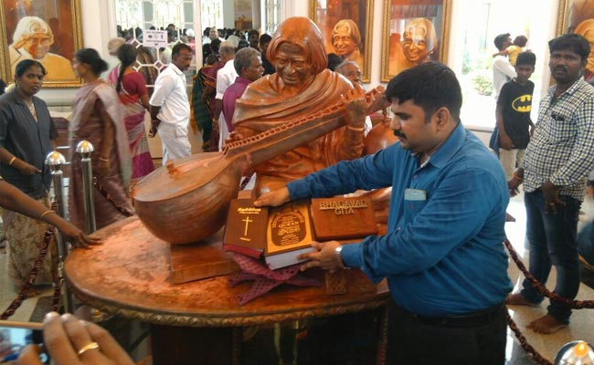 Before Inauguration, A Bhagwat Gita Surfaced At President Abdul Kalam's Statue.