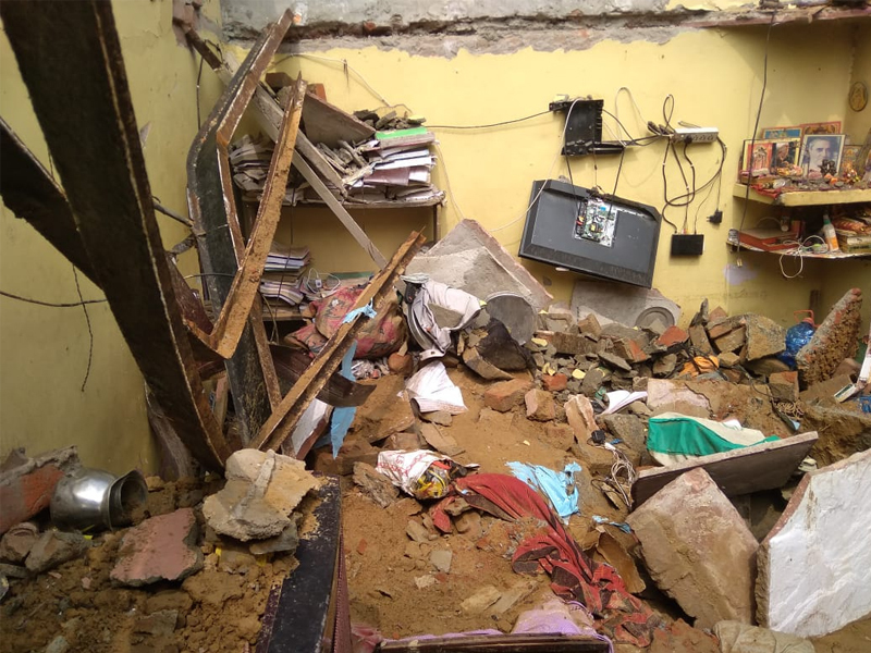 Two killed, three injured as roof of a house collapses near Dwarka in delhi