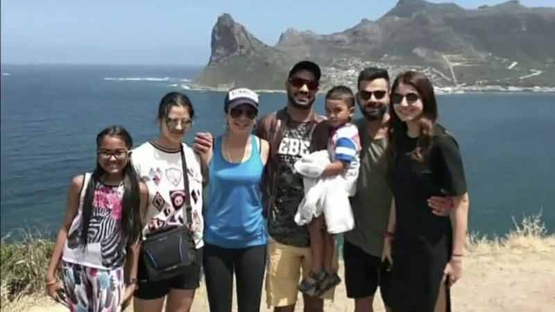 Virat Kohli-Anushka Sharma have a chillax time with Shikhar Dhawan and family in London—Pic