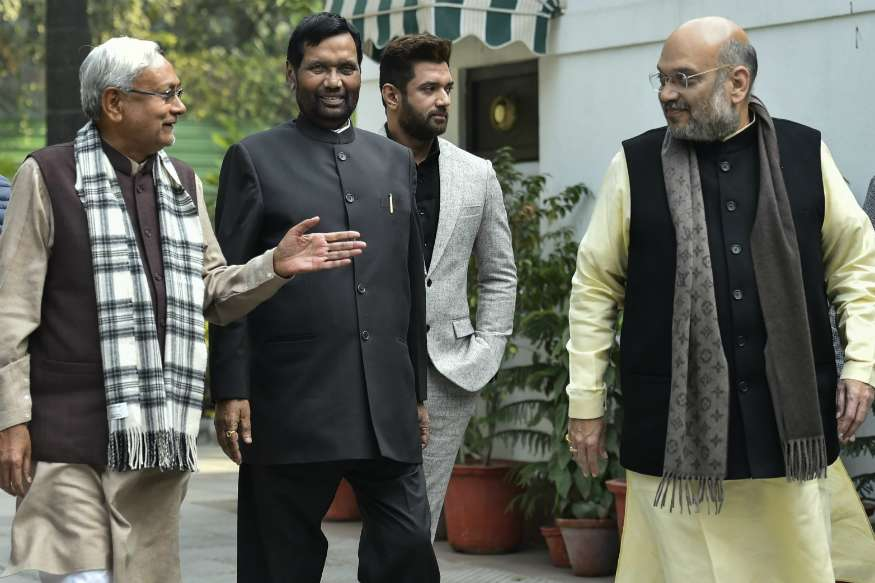 Lok Sabha Elections 2019 - Nitish  Echoes Ally Paswan, Says Ram Mandir Not Our Agenda