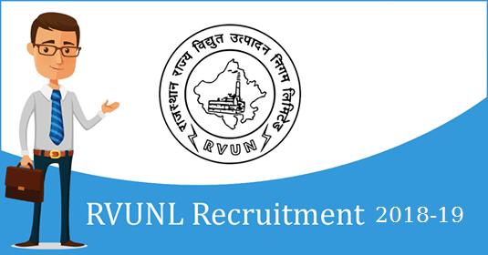 RVUNL Recruitment 2018 - 19