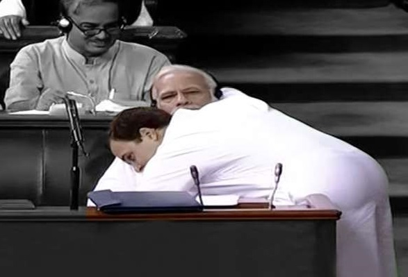 Rahul Hugs PM Modi in LS, Says Call Me Pappu, I Don't Care.