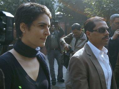 Priyanka Gandhi Picks Robert Vadra From ED Office
