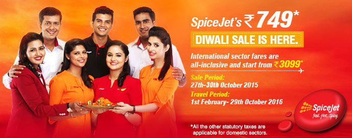 Spicejet's Diwali Sale: Tickets at Rs. 749!