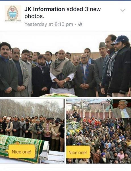 Mufti Mohammad Syed's Coffin's picture uploaded with smileys!