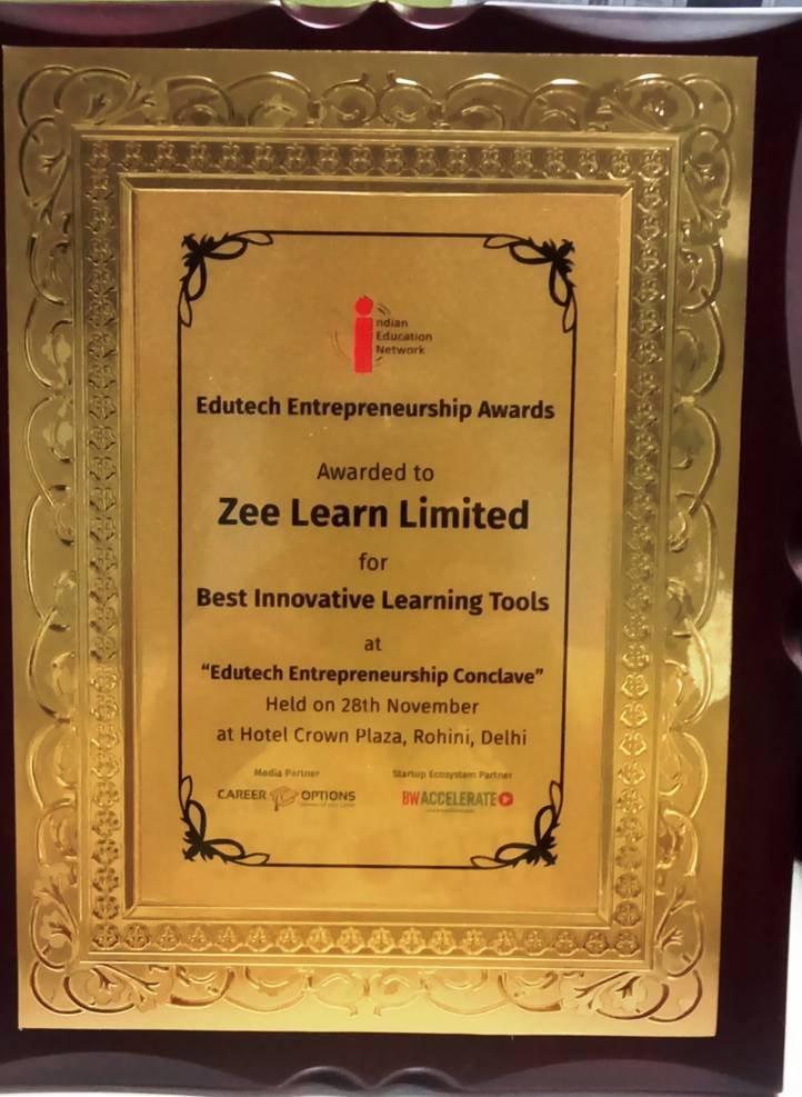 Zee Learn bags Best Innovative Learning Tools Award