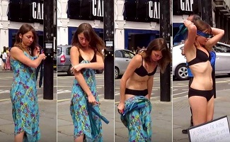 Viral : She Undressed On London Road, Here' Why