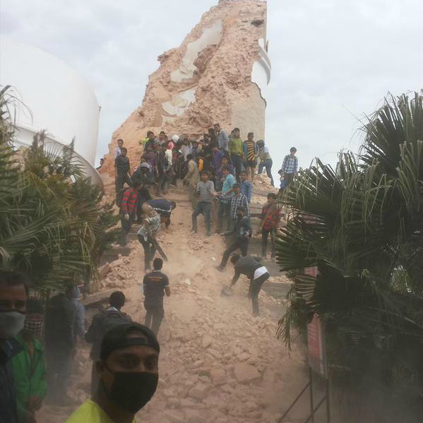 Death Of Five In Earthquake In India.