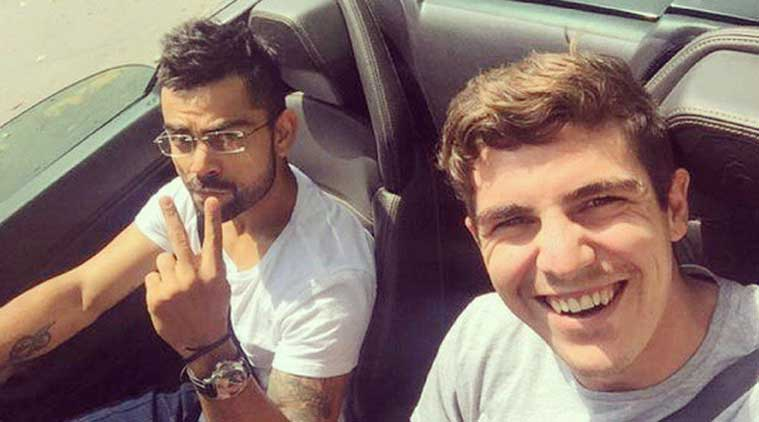 Marked : Kohli spotted with his new Lamborghini on Delhi roads.