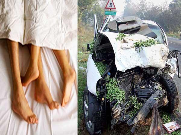 Having Sex while driving, driver crashes car, kills passenger