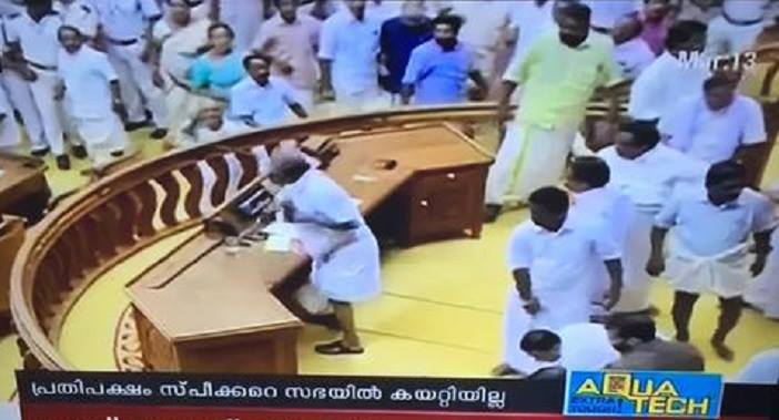 Kerela Assembly Ruckus : Undemocratic Behaviour of The opposition.