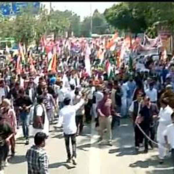 Youth Congress In Protest Over Land Acquisition Bill.