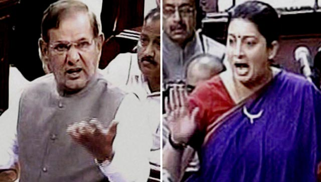 Sharad Yadav regrets over his controversial remarks against Smriti Irani.