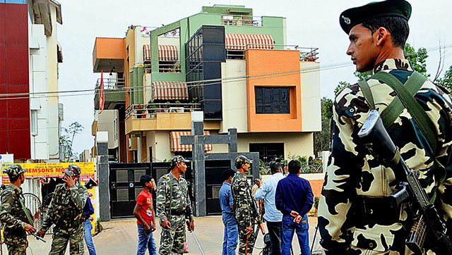 Dhoni's home  is turned as no-go zone after semifinal loss.