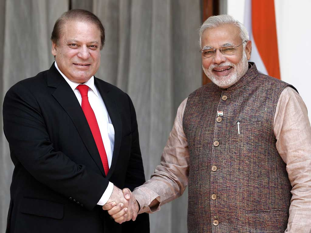 Modi's first day at work, holds landmark talks with Pakistan's Nawaz Sharif