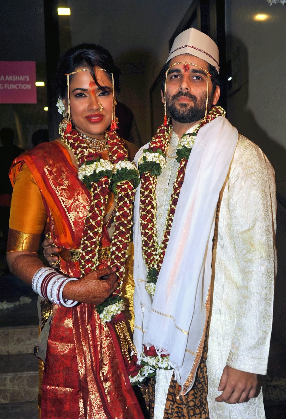 Sameera Reddy tied the knot with Mumbai-based businessman Akshai Varde