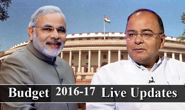 Budget 2016 Live Updates