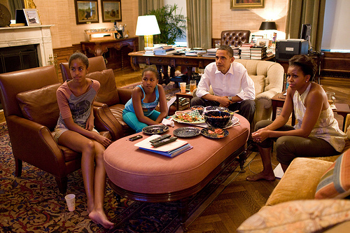 Who entered into Obama's House?