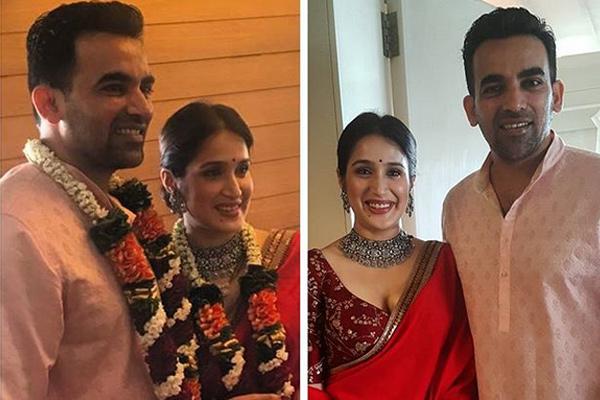 क्रिकेटर जहीर खान ने अभिनेत्री सागरिका घाटगे से की शादी, देखें...