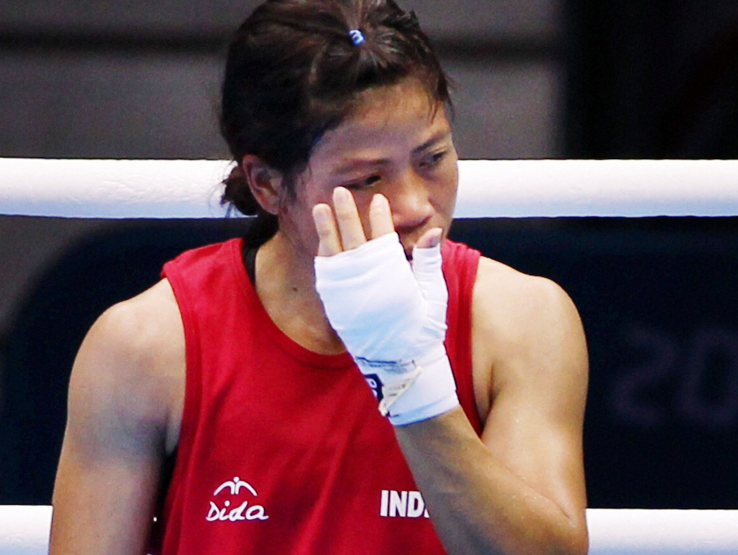 Who made MC Mary Kom Cry?