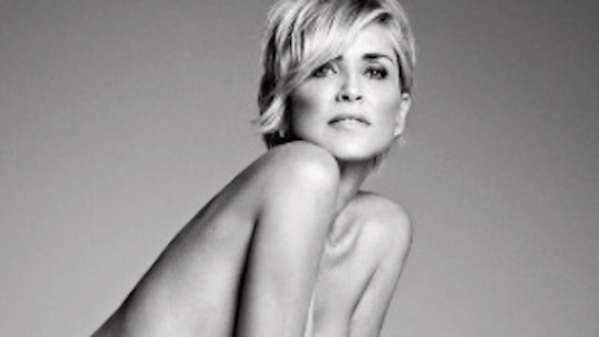 Sharon Stone's second Nude Photoshoot for BAZAAR