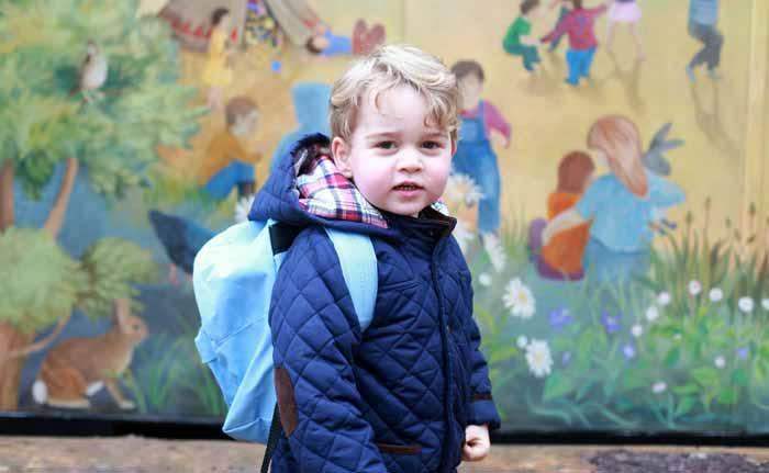 Prince George goes to school!